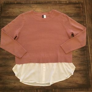 HM Divided mauve long sleeve sweater